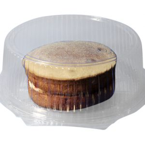 6″ Round Cake Tray With Hinged Lid – Clear