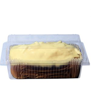 Clear Plastic Box With Hinged Lid For 1lb Cakes