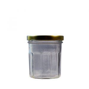200ml Facetted Menage Glass Jar With Lid