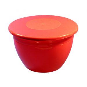 2lb/820ml Pudding Bowl & Lid - Red