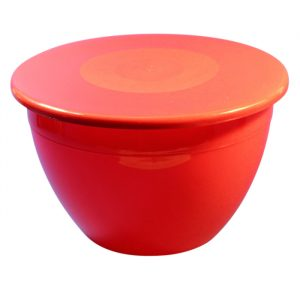 3lb/1100ml Pudding Bowl & Lid - Red
