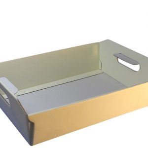 medium sized cream hamper tray-basket