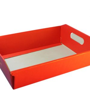 medium sized red hamper basket-tray