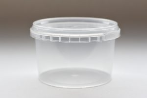 280ml round plastic tub with tamper evident lid. Food packaging great for confectionarys, cheese, soup, spices and sauces.From our food packaging range.