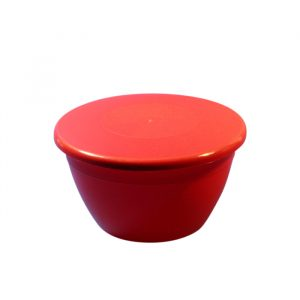 1lb/350ml Pudding Bowl & Lid - Red
