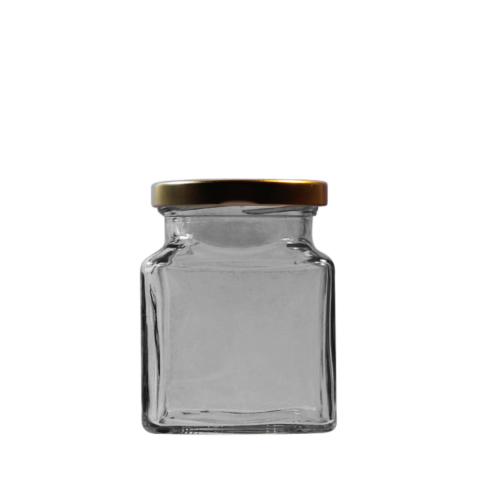 d9de2e540326 200g Square Glass Jar With Lid T/O 63mm