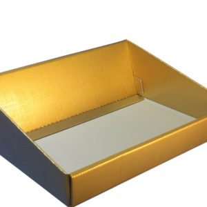 Gold High back hamper tray- basket