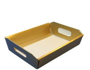 Small Gold Hamper Tray