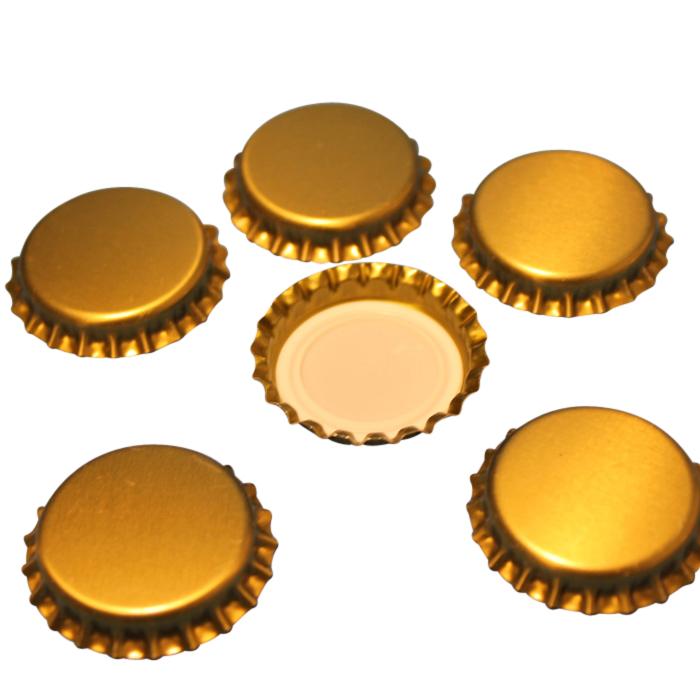 Crown Bottle Caps – Gold(26mm)