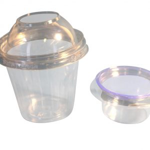 12oz/350cc Tamper evident Deli cup with 120cc Portion insert cup & lid