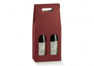 Double Burgundy Wine Gift Box from our Wine Packaging range