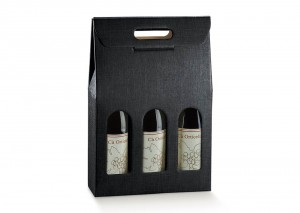 Treble Black Wine Box perfect for gifts. From Our Wine Packaging Range