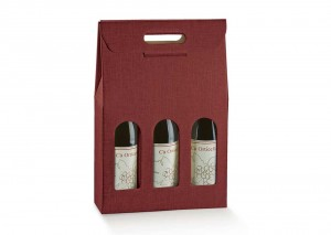 Treble Burgundy Wine Box perfect for gifts. From Our Wine Packaging Range