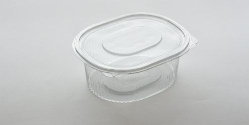 1000ml Salad Container with hinged lid perfect for salads and dressing. From our food packaging range.