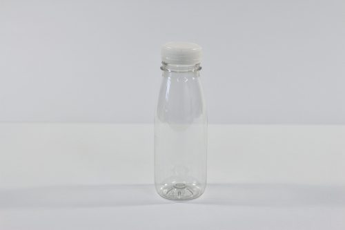 250 ml Plastic juice bottle with white lid