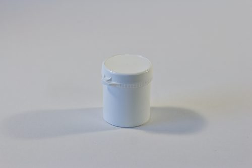 100ml White Snap Secure Jar WIth Tamper Evident Seal. Plastic Packaging Range