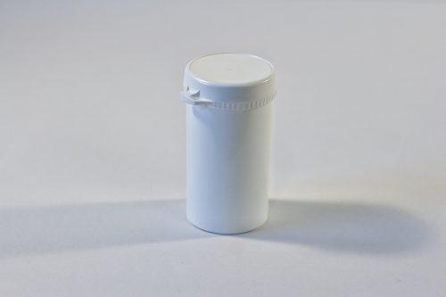 160ml White Snap Secure Jar WIth Tamper Evident Seal. Plastic Packaging Range