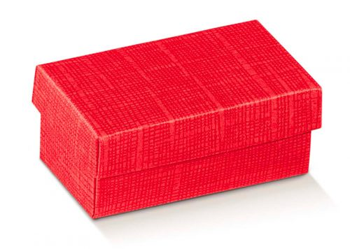 Red Gift Box With Lid On a White Background
